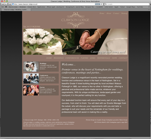 Premier wedding venue website