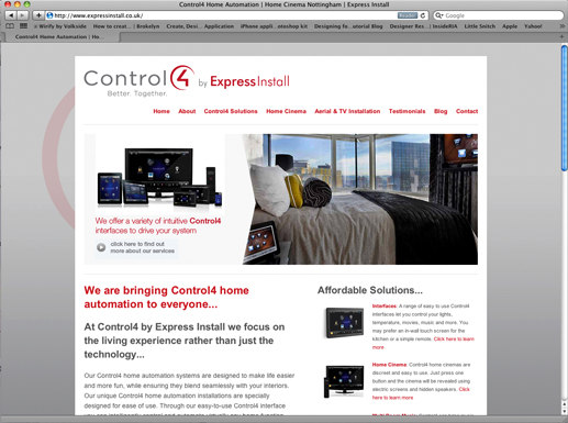 Control4 by Express Install Website