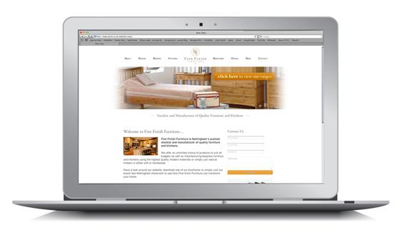 SEO campaign fine finish furniture website