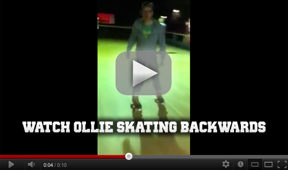 Rollerworld Ollie skating backwards