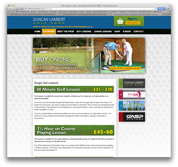 Duncan Lambert Golf Shop website 2