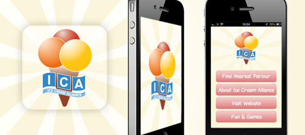 Ice Cream Alliance App Design iOS and Android App Design Market App Store