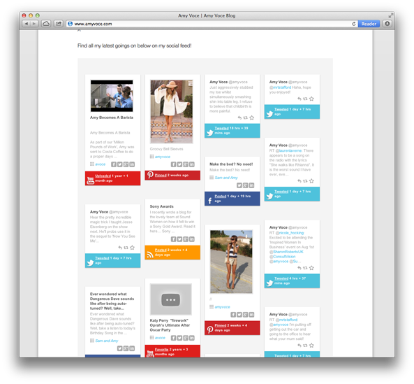 Social Feed plugin for website design