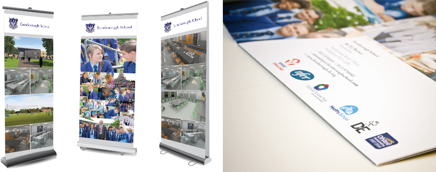 farnborough school pop-up banner design nottingham