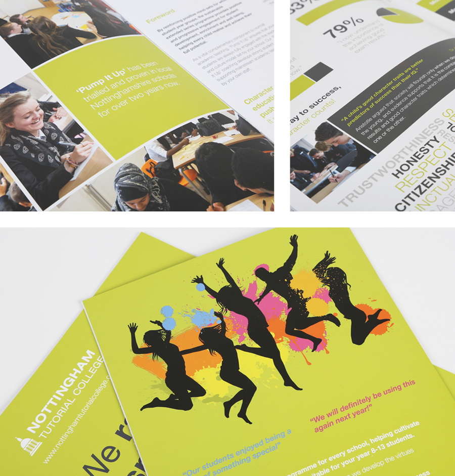 Poster design nottingham - Graphic Design Agency For Nottingham Tutorial College Prospectus