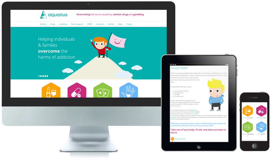 Aquarius Responsive Website Design Nottingham