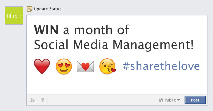 #sharethelove social media competition