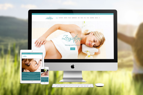 New Website Design for Zensations