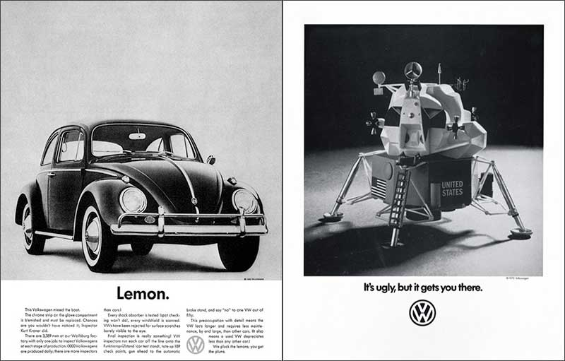 Volkswagen Beetle Adverts, 1960s