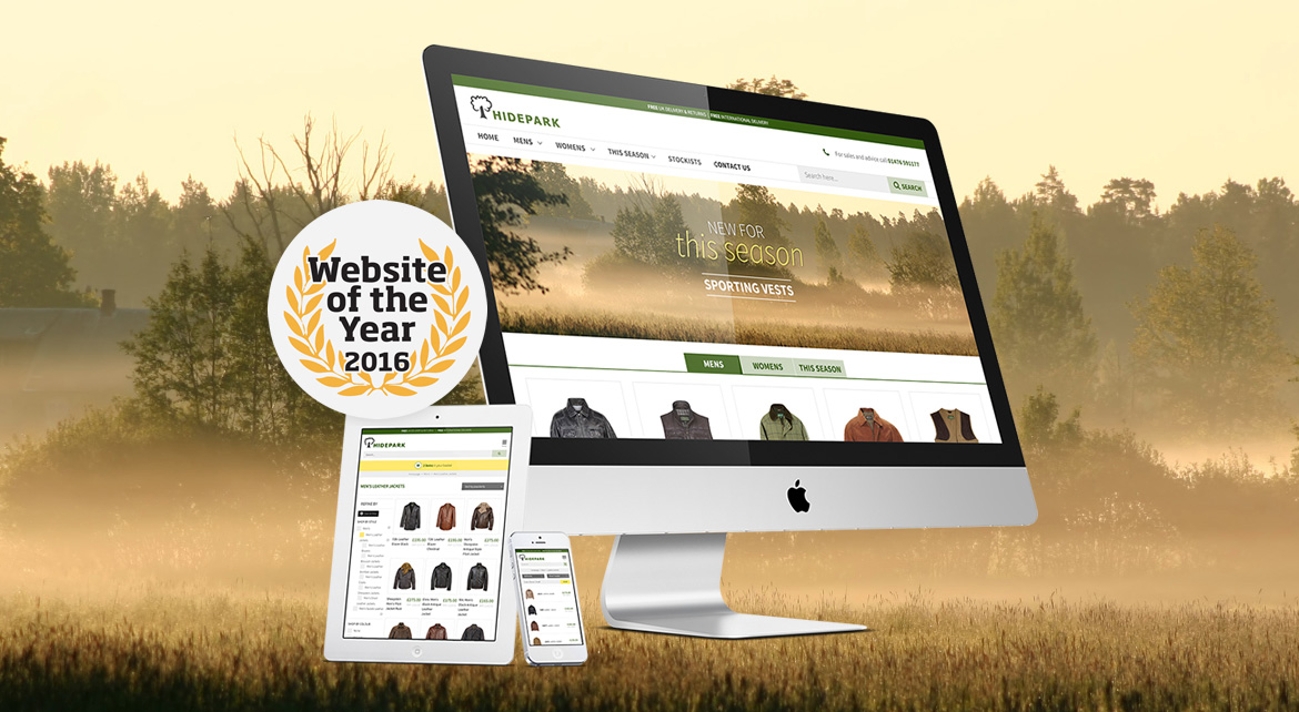 Hidepark are finalists at the Website of the Year awards!