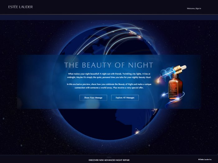 beauty of the night estee lauder