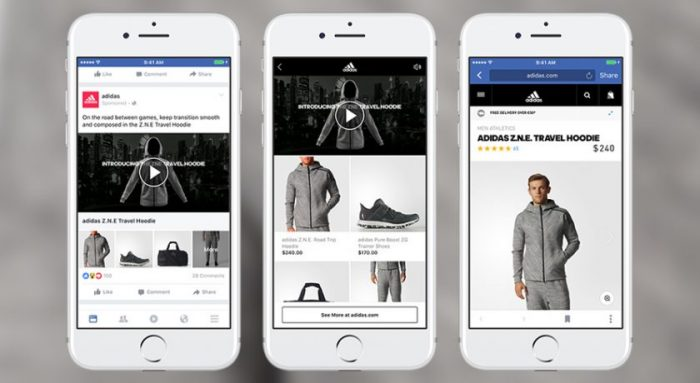 facebook collections adidas