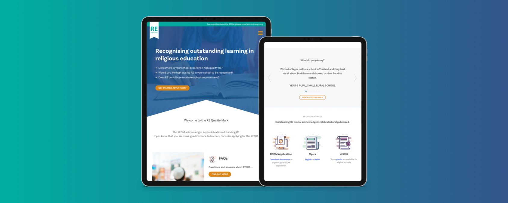 Reimagining REQM's Website for Modern Education