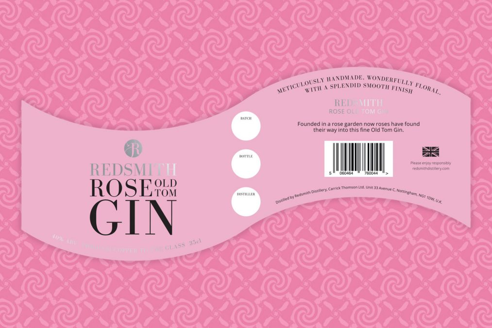 Redsmith is Pretty in Pink Gin Label Design