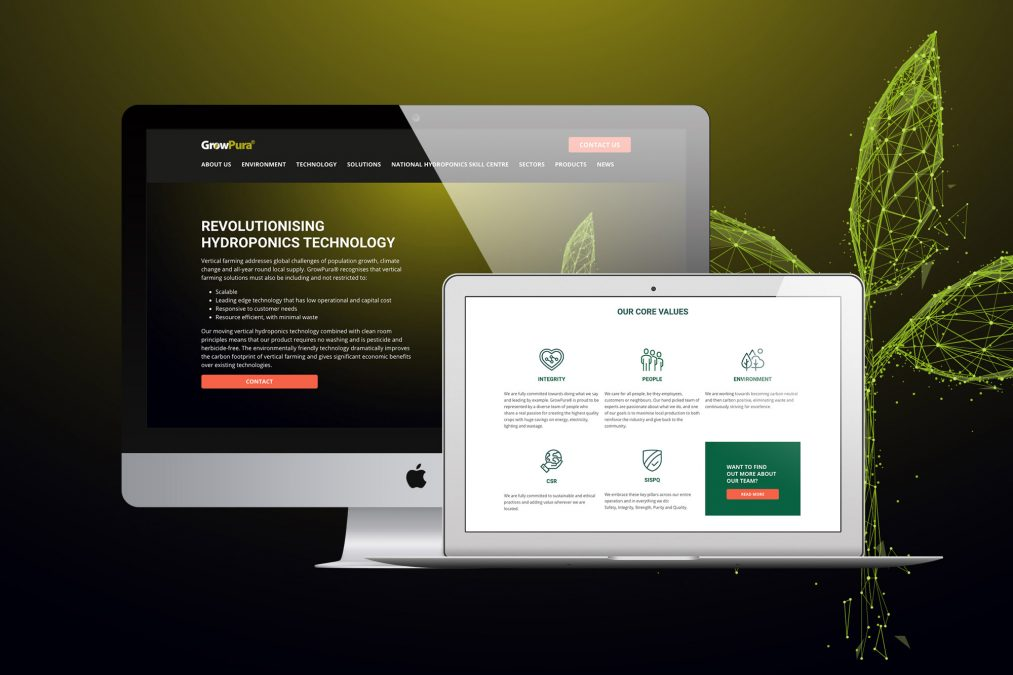 Web Design for GrowPura® and Launch